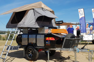 Signature Deluxe Camper Trailer Opened