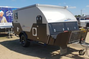 Signature Iridium Camper Trailer Closed Stone Guard and Drawbar