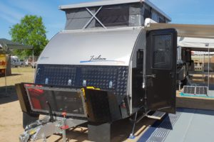 Signature Iridium Camper Trailer Front Opened