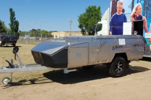 Signature Platinum Camper Trailer Closed Up
