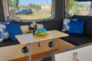Signature Platinum Camper Trailer Dining
