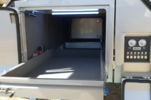 Signature Platinum Camper Trailer Fridge Draw and Control Panel