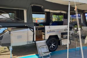 Signature Platinum Camper Trailer Open in Annexe