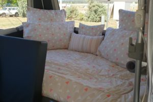 Signature Platinum Camper Trailer Slide Out Double Bed