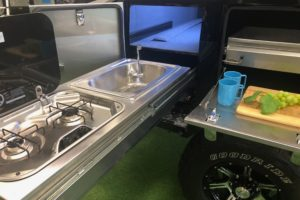 Signature Deluxe Camper Trailer Slide Out Kitchen