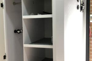 Signature Camper Trailers Iridium Bunk - Cupboard Open